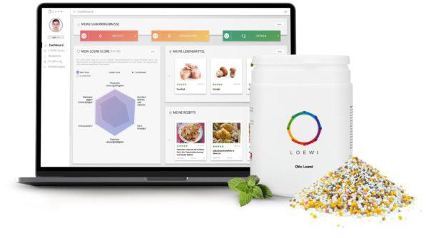 LOEWIs Produktübersicht für personalisierte Ernährung und Nahrungsergänzung